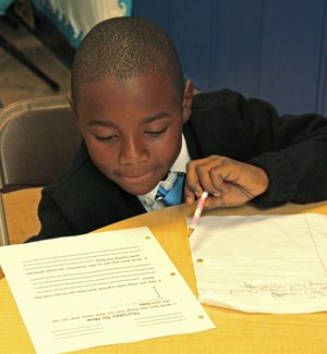Learning at the Kipp charter schools (pictured here) focuses on a mix of teamwork, perserverance, and fun.