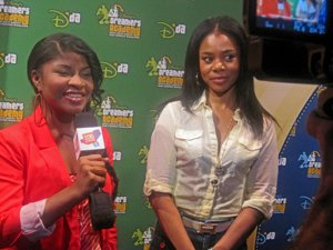 15-year-old Shores with actress Regina Hall.