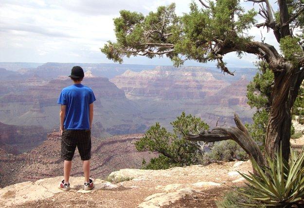 Evan at the Grand Canyon
