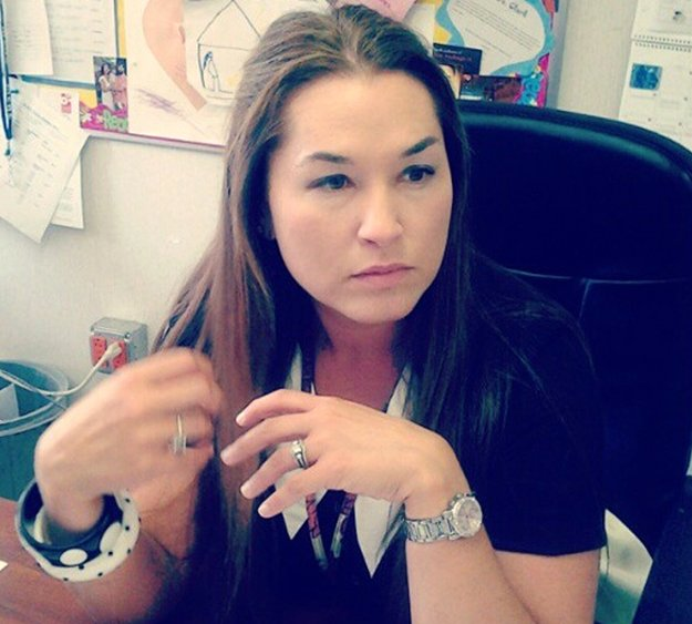 English teacher Brittany Clark, Middle College High School