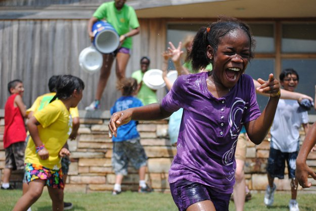 Campers keeping cool at Shelby Farms Park
