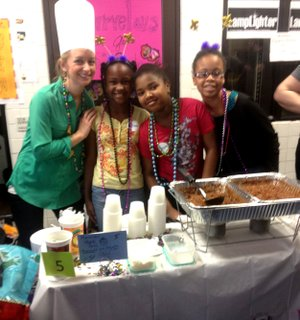Delmarie Kelley, Andrea Turner, & Alexis Whitfield at Peabody Elementary's chili contest.