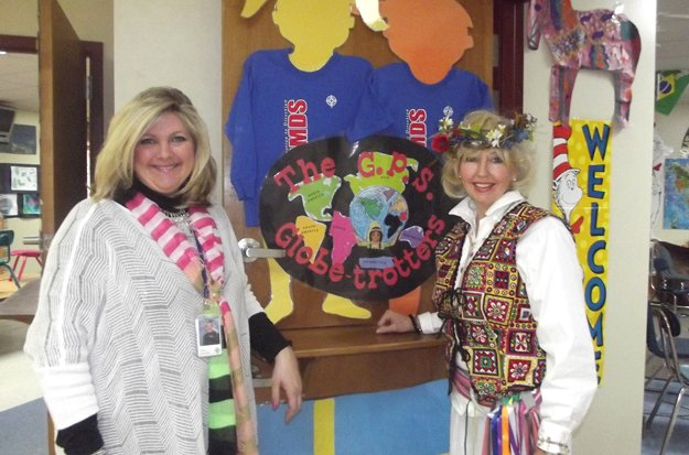 Teachers Kathy DeFreece and 