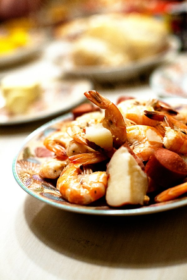 LOWCOUNTRY BOIL —  Grab a big pot. Cut up several small red potatoes, add crab boil seasonings, fill the pot about half full with water and bring to a boil. After 7 to 8 minutes, add slices of smoked sausage and fresh corn. Wait a few more minutes, t...
