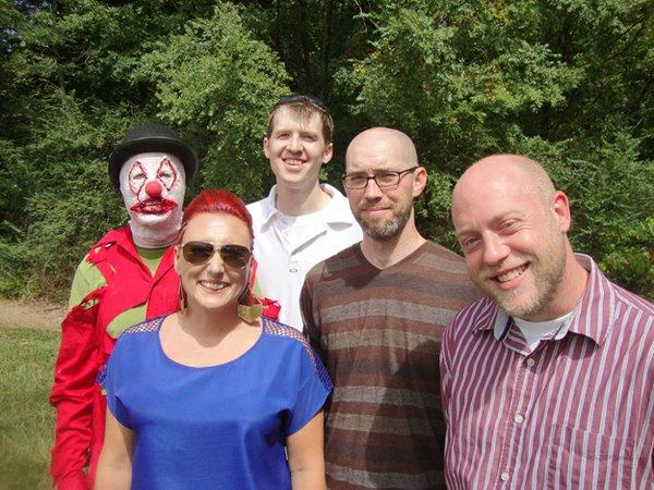 The Haunted Trails creative team includes (l to r) Ian and Lexi Pretznow, Andy Gilbert, Duane Craig, & John Paul Graham.