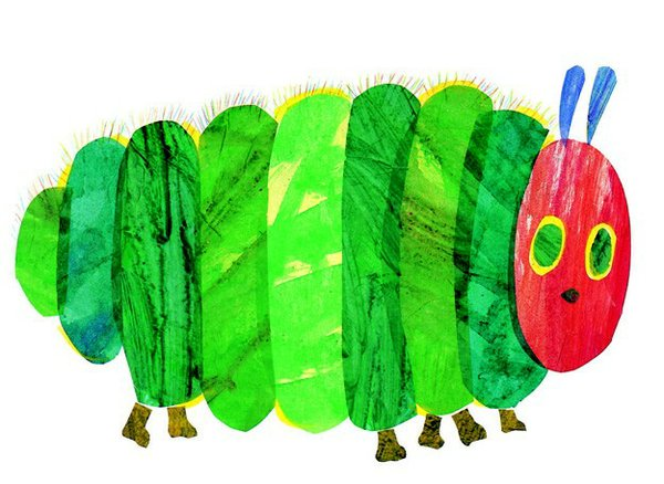 Among Carle's most popular books is The Very Hungry Caterpillar