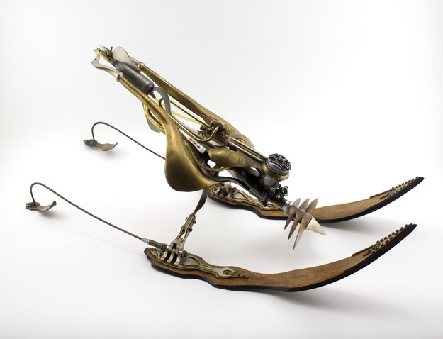 Ira Sherman Motorized Mayfly, 1981 wood, brass, steel,sterling silver, plastic
