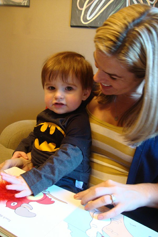 Joy with her son, Macallen. He started walking at 9 months.