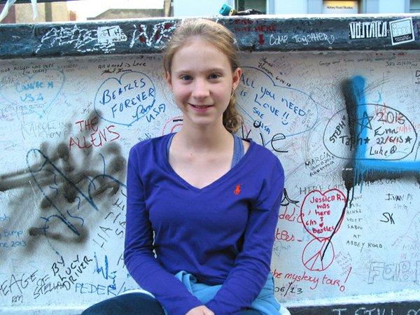 Ella at Abbey Road