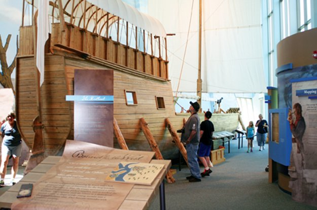 A replica of Lewis and Clark's keelboat
