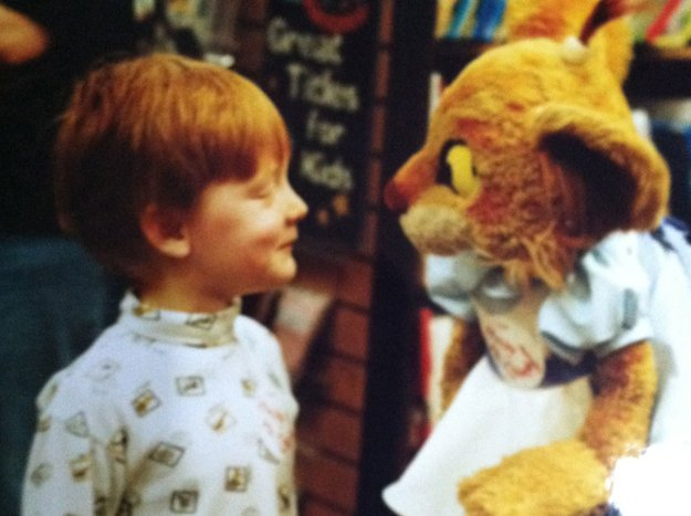 Simpler times, when wonder was meeting a TV personality.
