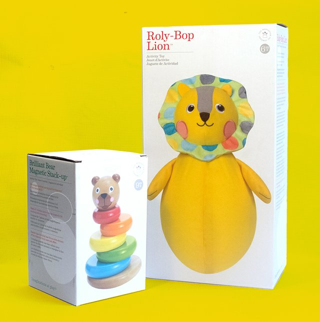 Brilliant Bear Magnetic Stack-up & Roly-Bop Lion